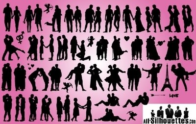 Romantic Love Couples Pack Silhouette