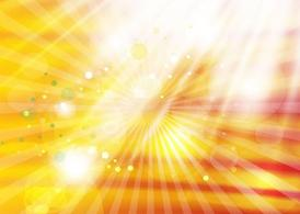 Gold Light Rays Background