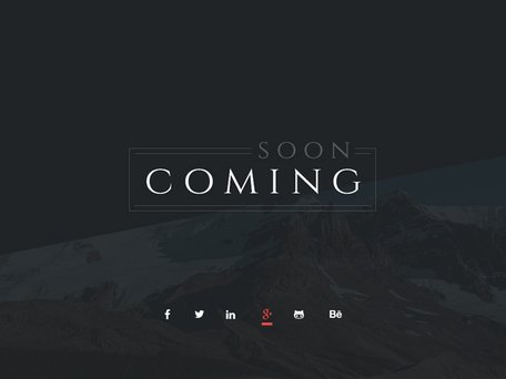 PSD gratuit - Coming Soon Page
