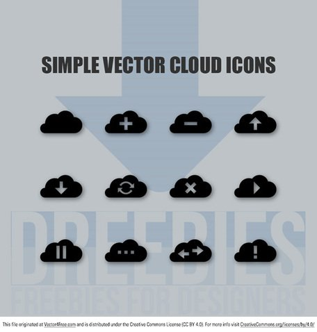 Simple Vector nube iconos