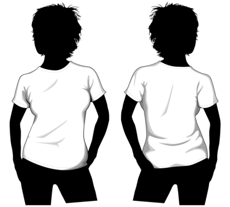 Vector Girls T-shirt Template Front and Back, Clip Art - Clipart.me