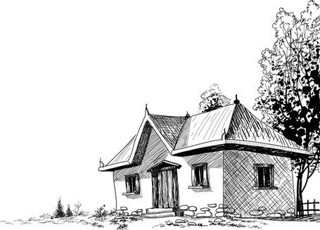 House Sketch Vector 5