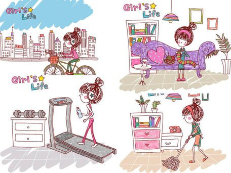 Girl's life, Vector EPS Girl's Life7