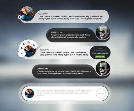 Messagerie Chat App UI