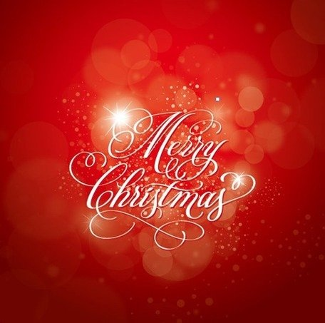 Christmas Calligraphy Red Background
