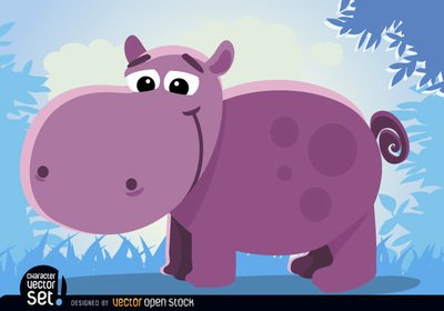 Cartoon hippopotamus Animal