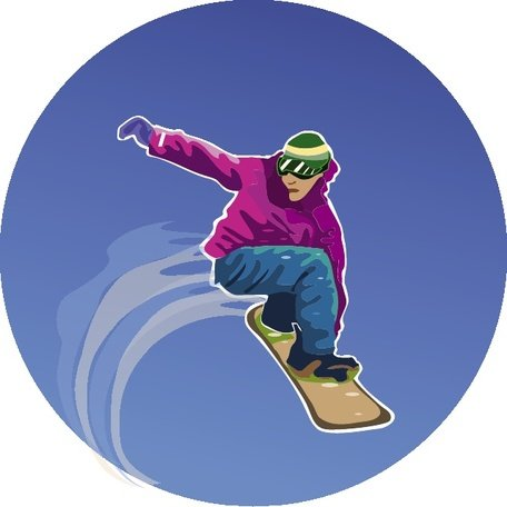 SNOWBOARDER VECTOR ILLUSTRATION.eps