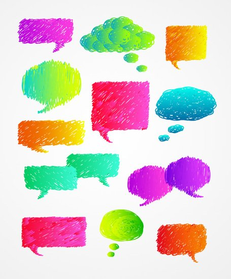 Hand Drawn Speech Bubble Vector Set (Free)