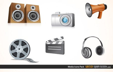 Free Vector Media Icons Pack