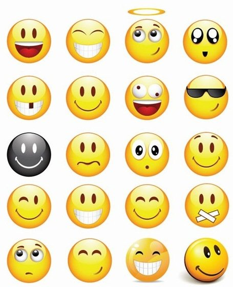Cool Smileys Vector Icon Set