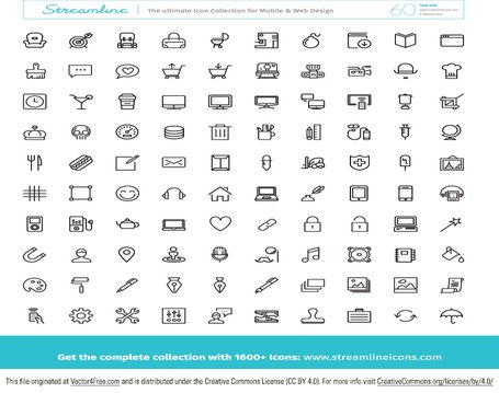Grote gratis Icon Vector Pack