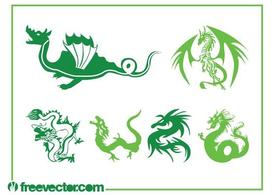 Drachen Vector Graphics-Set