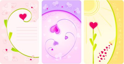 Flower hearts card