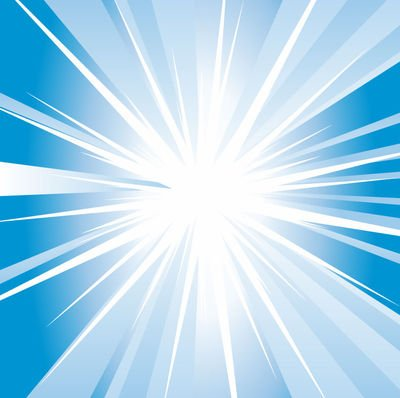 Shiny Swirling Blue Starburst Background