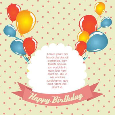 Polka Dot Vintage Birthday Card