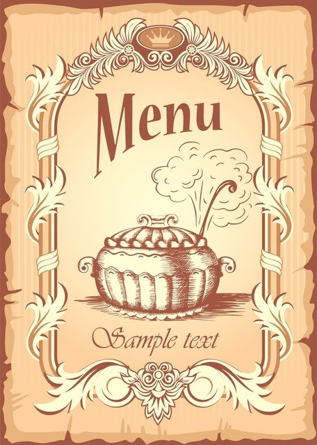 Menu Cover, Vector File - Clipart.me