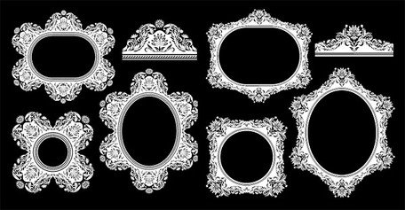 European classical pattern vector material frame