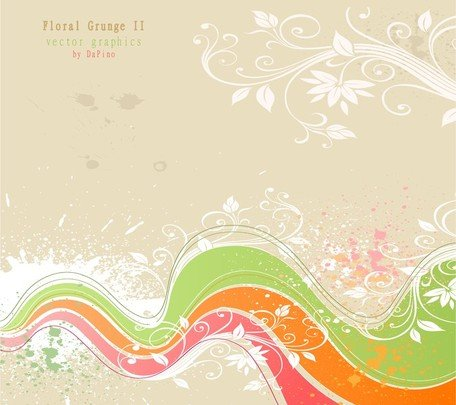 Flor Grunge Background