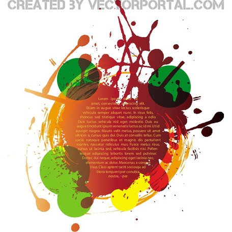 COLORFUL GRUNGE ELEMENTS VECTOR.eps