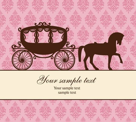 Carriage and the trend of the background pattern vector mate