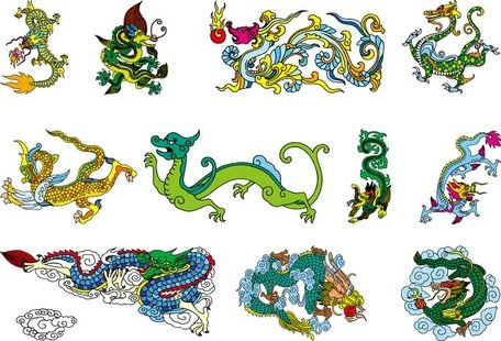Chinese Classical Dragon Vector Of The Nine