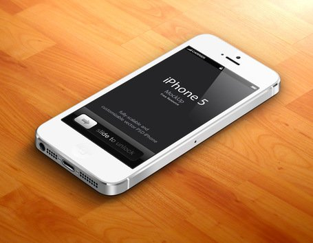 3D iPhone 5 Psd макет вектор v2