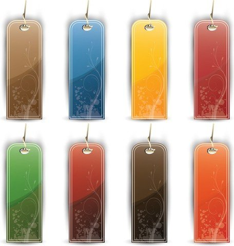 Colorful Tags And Labels Vector Set