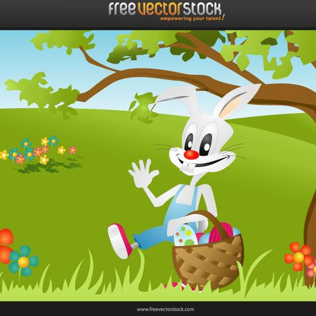 EASTER BUNNY VECTOR IMAGE.ai