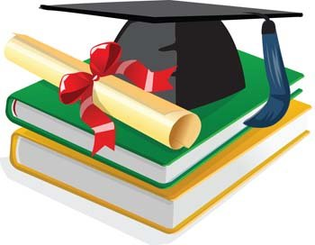 Book and scholar hat vector files clipart me