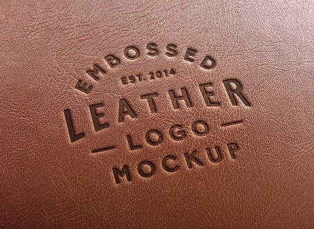 Leather Stamping Logo MockUp #2
