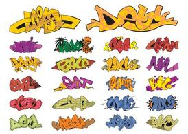 Graffiti stukken Graphics Set