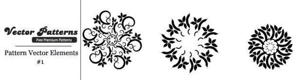 9 Decorative Free Vector Pattern Elements Edition 1