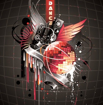 Free Vector Musical Theme of the Trend of Illustration 2