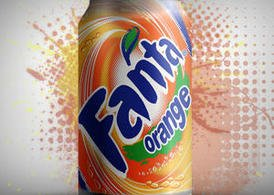 Fanta Metallic Can PSD