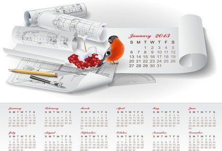 Conception calendrier 2013