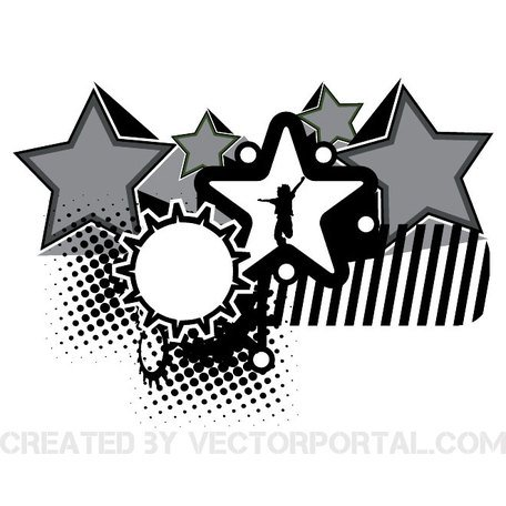ABSTRACT VECTOR achtergrond met STARS.eps