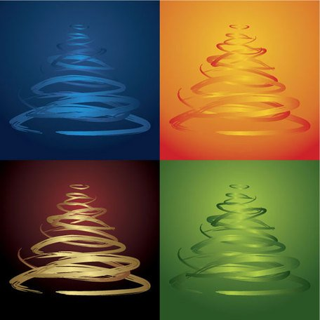 Four-color Christmas tree