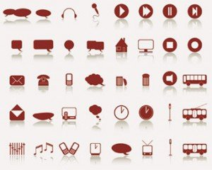 Voorraad illustraties Web-Icons