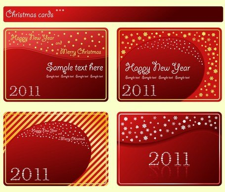 Festive Red Card Template