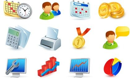 Gratis Office Vector Icons