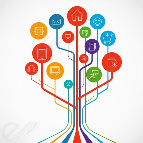 Technology growth tree concept illustration, Vectors - Clipart.me