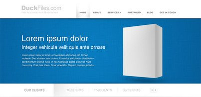 Corporate website sjabloon (gratis PSD)