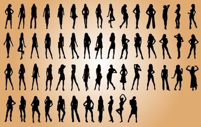 Sexy Fashion Model Silhouette Pack