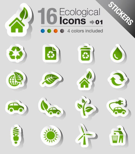 Beautifully green stickers