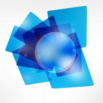 Transparent Blue Geometric Shape Background