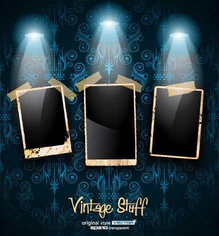 Photo Frame Vintage Stuff Vector Background Clip Art Photo