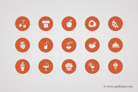 50 еда Icon Set (PSD)