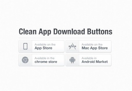 Clean App Download Buttons