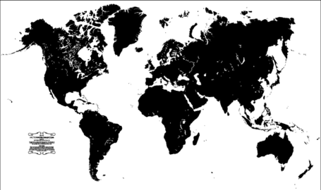 Blank World Map Vector Free