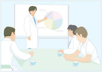 Medical person vector 12
